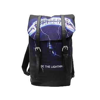 Metallica Backpack Heritage Bag Ride The Lightning Band Logo new Official Black