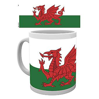 Flagge von Wales geschachtelt Becher trinken