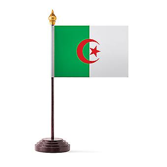Algeria Table Flag with Stick and Base