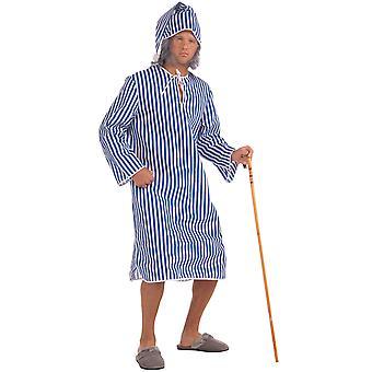 Scrooge's Night Before Christmas Carol Nightshirt & Cap Men Costume STD
