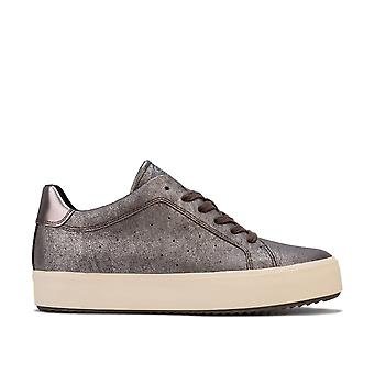 Womens Geox Blomiee High Trainers in chestnut / mud.
