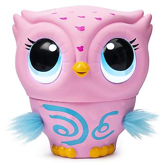 Owleez Flying Baby Owl Interactive Toy with Lights and Sounds - Pink