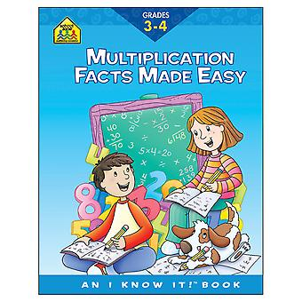 Curriculum Workbooks 32 Pages Multiplication Facts Grades 3 4 Szcur 02108
