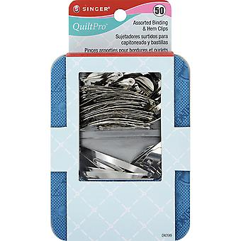 Quiltpro Assorted Binding & Hem Clips 50 Pkg 4399