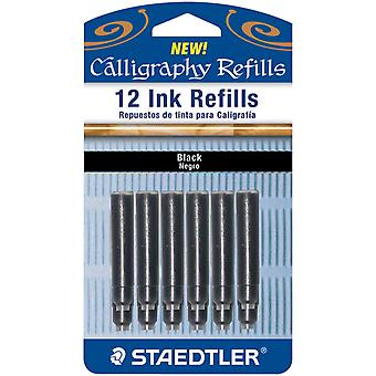 Calligraphy Pen Ink Refills 12 Pkg Black Bk12 Blk