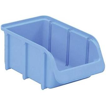 Alutec Semi Open Fronted Plastic Storage Container (Size 2, Blue) Alutec