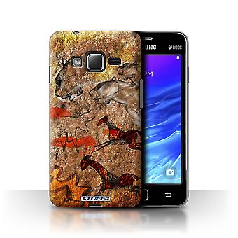 STUFF4 Case/Cover for Samsung Z1/Z130/Stampede/Red/Cave Painting