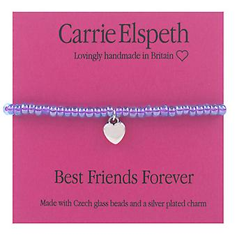 Carrie Elspeth Best Friends Forever Children`s Sentiment Stretch Bracelet