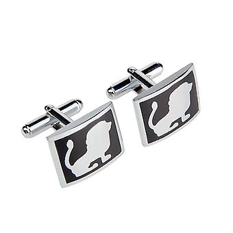 Marcell Sanders men's cufflinks Black Lion stainless steel