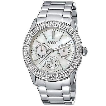 ESPRIT ladies watch wristwatch Peony stainless steel Silver ES103822008