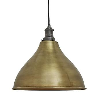 Brooklyn Vintage Metal Cone Pendant Light - Brass - 12