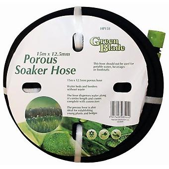 15 Metre Porous Soaker Hose Garden Plant Watering Pipe With Connectors