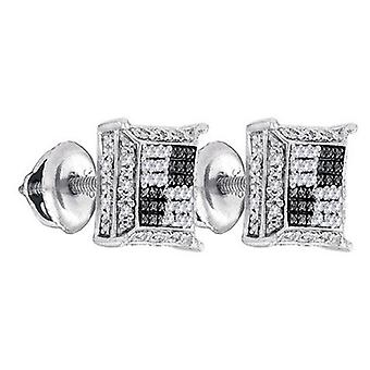 925 Silber Diamant Ohrstecker - MICRO PAVE 0.12 ct