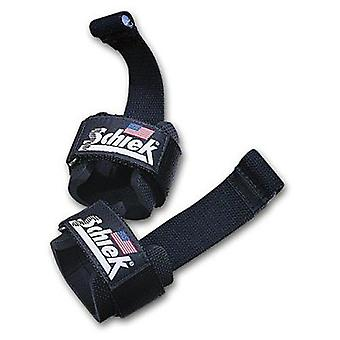 Schiek Sports Model 1000-DLS Deluxe Dowel Lifting Straps - Black