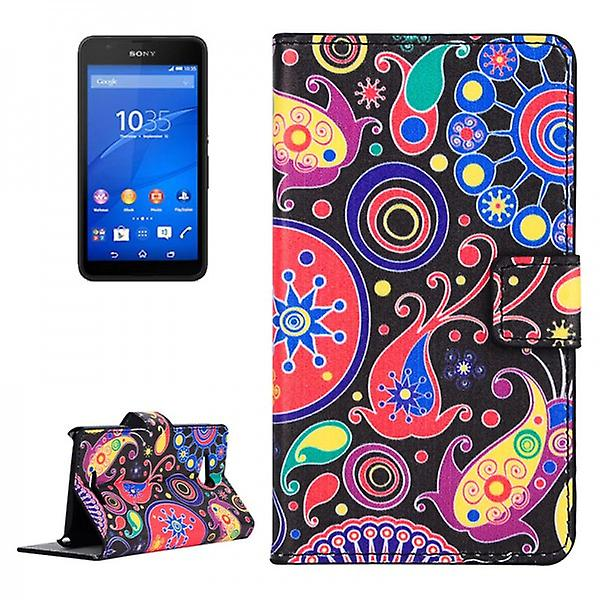 Pocket Wallet Premium pattern 8 for Sony Xperia E4G