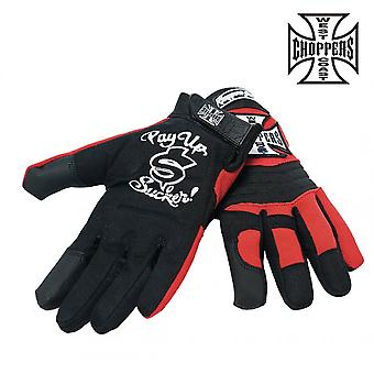 West Coast choppers gloves of WCC riding gloves
