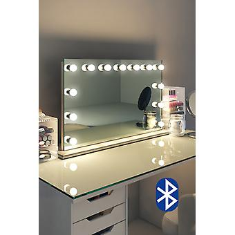 Diamond X Table Top Hollywood Audio miroir avec LED réglable k91sLEDaud