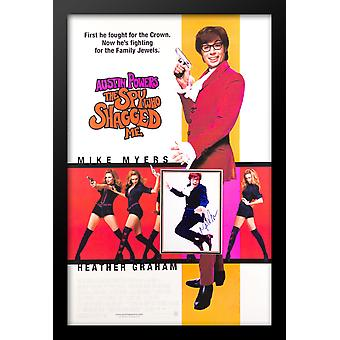 Austin Powers The Spy Who Shagged Me - Signed Photo in Movie Poster
