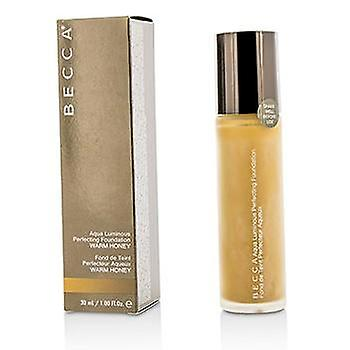 Becca Aqua Luminous Perfecting Foundation - Warm Honey - 30ml/1oz
