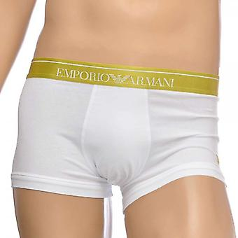 Emporio Armani Fashion Embroidery Stretch Cotton Trunk, White, X-Large