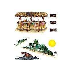 Tiki Bar And Island Props (8 In A Pack)