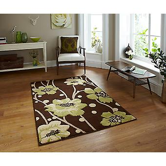Verona 216 Brown-Green Brown and green Rectangle Rugs Modern Rugs