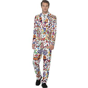 Smiffys Groovy Suit With Jacket Trousers & Tie (Costumes)