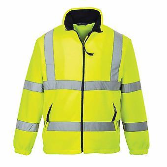 sUw - Hi-Vis Workwear Mesh gefüttert Fleece Sicherheitsweste