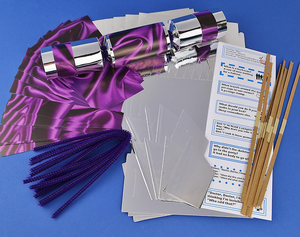 8 silver purple silk make fill your own party crackers kit fruugo 8 silver purple silk make fill your own party crackers kit solutioingenieria Gallery