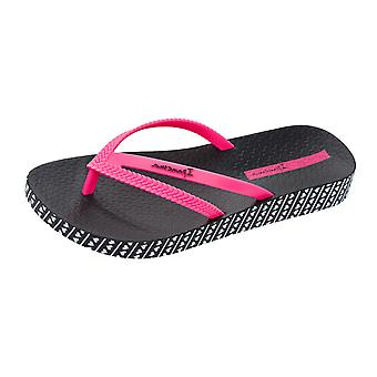 Ipanema Bossa Soft Womens Flip Flops / Sandals - Black and Pink