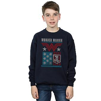 DC Comics Boys Justice League film Wonder Woman Flag Sweatshirt