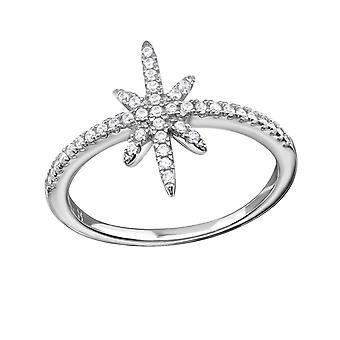Stern - jeweled 925 Sterling Silber Ringe