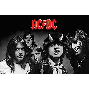ACDC - Highway to Hell BW Poster Plakat-Druck