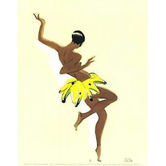Black Thunder (Josephine Baker) Poster Print von Paul Colin (10 x 12)