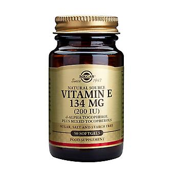 Solgar Vitamin E 134 mg (200 IU) Mixed Softgels, 50