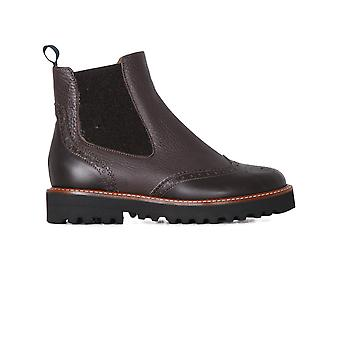 Viamercanti women's P144MBROWN brown leather ankle boots