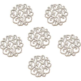 Ultimate Crafts Bohemian Bouquet Metal Charms 5/Pkg-Scalloped Doily LT158046