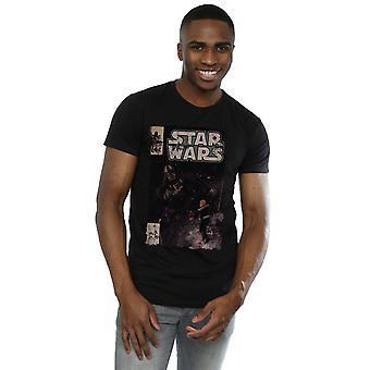 Star Wars Men's Darth Vader Duel Comic T-Shirt
