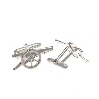 Arsenal Sterling Silver Cufflinks GN