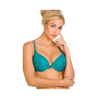 Camille Super Boost Padded Push Up Green Underwired Bra