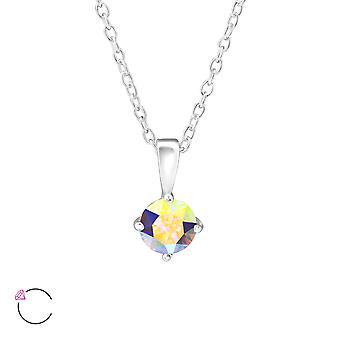 Round Crystal From Swarovski® - 925 Sterling Silver Necklaces - W34039x