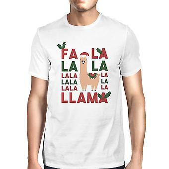 Falala Llama Mens White Unique Fashionable Tee Great Gift Idea