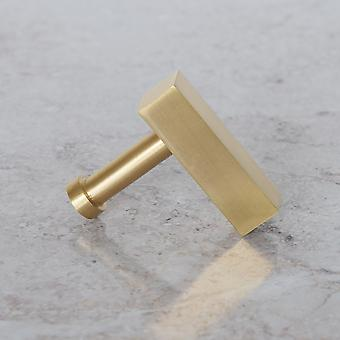 Brushed Brass Gold Rectangle Drop Pull