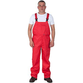 Basic Bib and Brace - Red Mens Work Bib Overalls Industrial