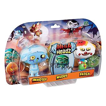Mega Headz Hew02311 tredobbelt figur Pack karakterer tilfældigt