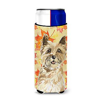 Fall Leaves Cairn Terrier Michelob Ultra Hugger for slim cans