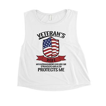 Veteranen Frau Ernte Tank Top Women weiß süß 4. Juli Outfit