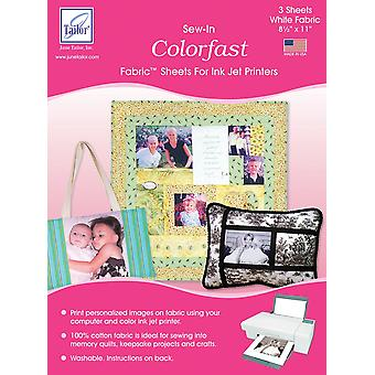 Colorfast Sew-In Ink Jet Fabric Sheets 8.5