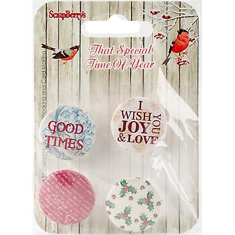 Scrapberry's That Special Time Of Year Embellishments 4/Pkg-No.2-1