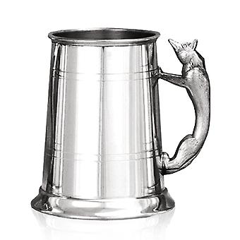 Fox Handle Pewter Tankard - 1 Pint